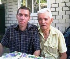 Селезнев Владимир Ерофеевич с внуком Евгением